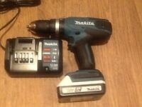 Makita 18v drill with charger and battery ,brand new