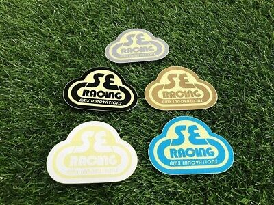 S E BMX decal Sticker PK Ripper Quadangle frame baby blue black gold white 4130  for sale  Shipping to United States