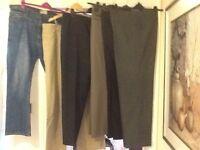 """Men's clothes bundle no.9 - 6 x pairs 42"""" waist trousers"""
