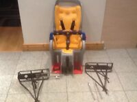 TOPEAK child bicycle carrier seat in excellent condition with 2 different mounting racks