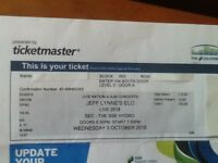 ELO ticket Glasgow Wednesday 3rd October