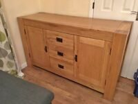 STUNNING LIGHT OAK SIDEBOARD ITS LARGE AND WAS FROM JOHN LEWIS