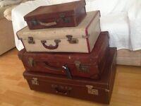 vintage suitcases,wedding,shop displays,photography etc