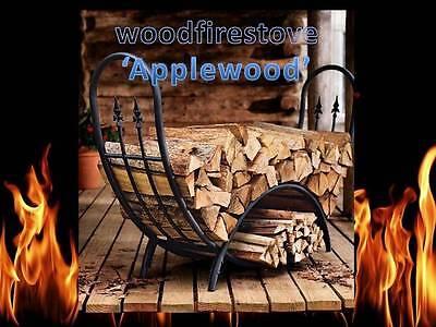 Firewood Log Storage Rack/Wood Rack Wrought Iron Curved Log Holder U0027 Applewoodu0027