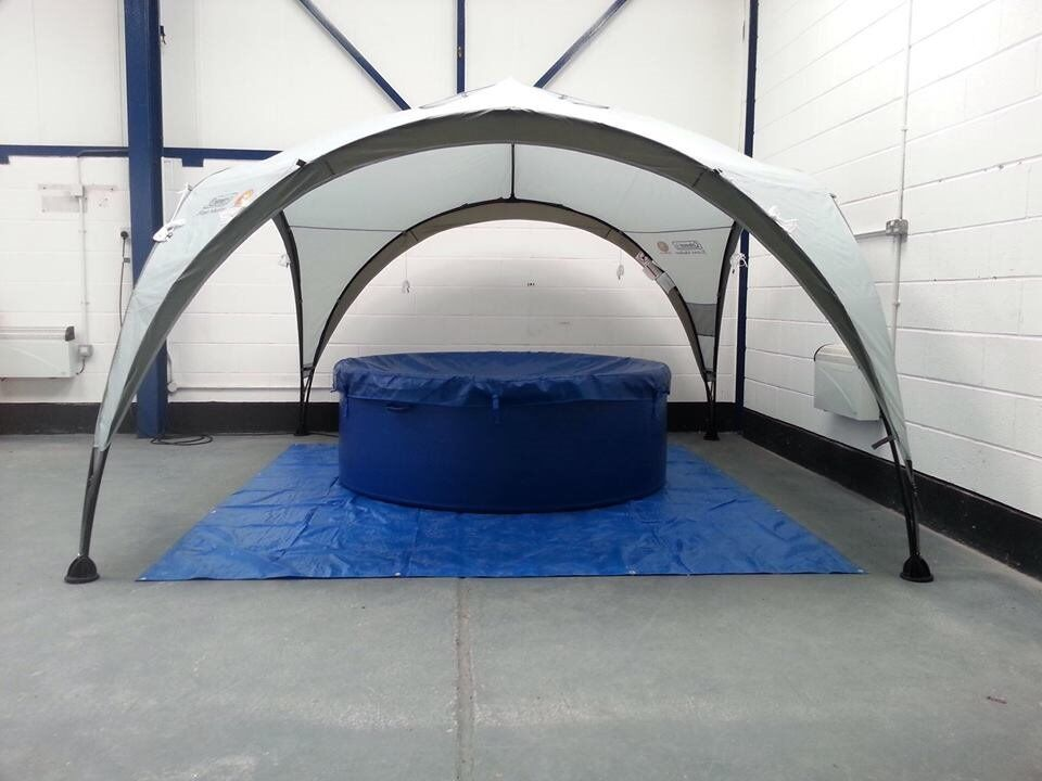 Bestway Lay-Z Spa Monaco Inflatable Hot Tub and Event Tent for Sale & Bestway Lay-Z Spa Monaco Inflatable Hot Tub and Event Tent for ...