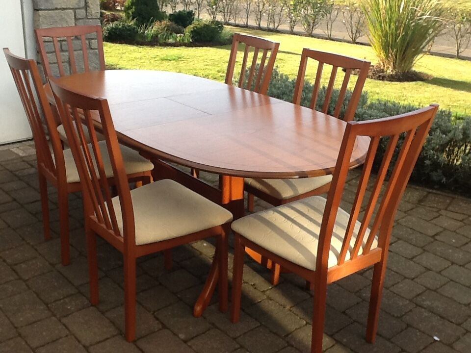 Elegant Morris Of Glasgow Dining Table U0026 6 Chairs
