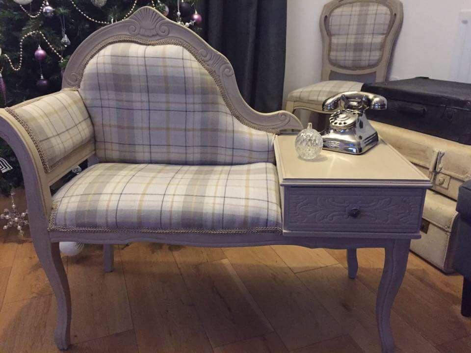 Nice Stunning Refurbished Vintage Telephone Table / Telephone Seat