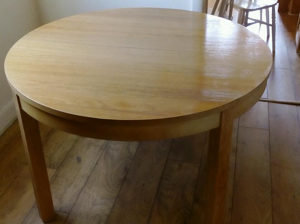 ikea bjursta extendable round table in oak in urmston manchester gumtree. Black Bedroom Furniture Sets. Home Design Ideas