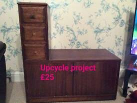 Upcycle project.? Telephone table