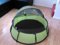 Babymoov travel cot, pop up UV tent, play pen , Gym/mosquito net/carry bag