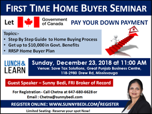 First Time Home Buyer Seminar - No Cost No Obligation