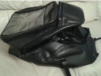 Bagster Suzuki Bandit black tank protector and detachable bag VGC