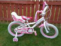 "**LITTLE GIRLS ""JASMINE"" BIKE 16inch (5-7 years)**Looks New**"