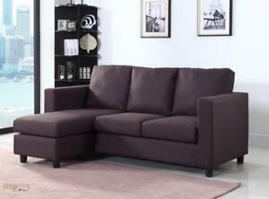 Urban Cali Newport Small Condo Apartment Sized Fabric Sectional Sofa! NEW! In Stock in Canada!