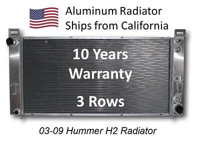 All Aluminum Radiator for Hummer H2 2002 2009