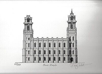 MANTI LDS TEMPLE ART PRINT-MORMON HISTORY