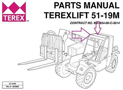 Terex Tx51-19m All Terrain Forklift Sky Light Part 07.0723.0034
