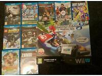 WII U with 10 games
