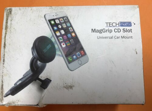 TechMatte MagGrip CD Slot Magnetic Universal Car Mount Holde