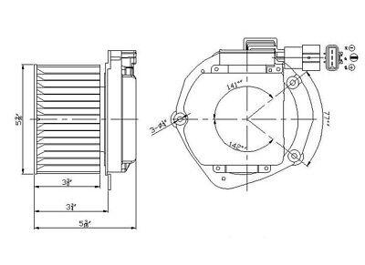 HVAC Blower Motor Front TYC 700108