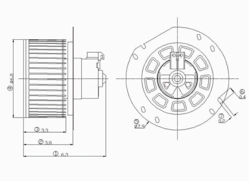 Blower Motor Front Ford E150 03-14 TYC 700022