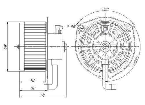 HVAC Blower Motor Front TYC 700160 fits 03-08 Pontiac Vibe