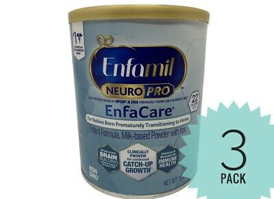 3 Cans Enfamil EnfaCare NeuroPro Infant Baby Formula Powder - NEW 12.8oz