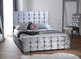 Crushed velvet Milan Bed