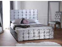 Crushed velvet bed £199