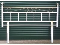Two tone (brass/metal) Headboard for double bed.