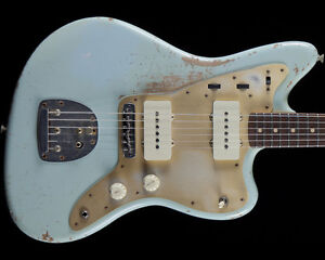 NEW Fender Custom Shop Limited Heavy Relic Jazzmaster Sonic Blue Electric Guitar
