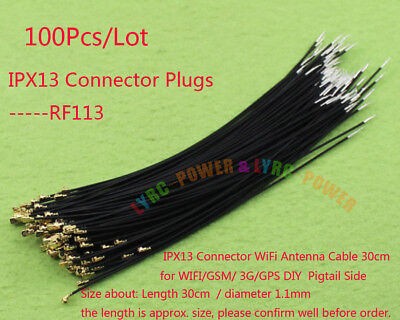- 100Pcs/ Lot IPX13 IPX Pigtail Antenna plug 30Cm wire For Plane Receiver RX WIFI