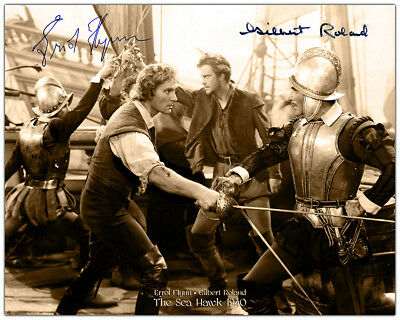 ERROL FLYNN THE SEA HAWK 1940 Swashbuckler 8x10 Photograph Autograph RP