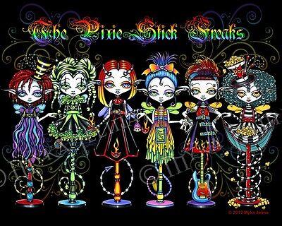 Rainbow Fairy Circus Big Eyed Dolls Pixie Stick Freaks Myka Jelina Signed - Pixie Stick