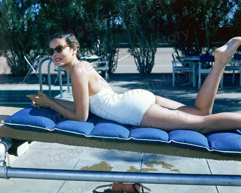 8x10 Print Gene Tierney Sexy Poolside Portrait #GTAN