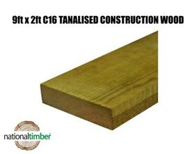 9x2 CLS Tanalised Timber C16 Structural Graded Studwork Timber Various Sizes