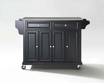 Crosley Stainless Steel Top Kitchen Cart/Island Black - KF30002EBK