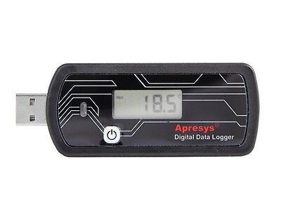 Apresys Reusable 179-dth Usb Temperature Humidity Data Logger W Lcd Display