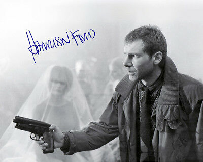 HARRISON FORD Sci-Fi Classic Film Blade Runner Photograph Autograph 8x10 RP