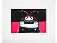 ANDY WARHOL - 'MERCEDES GULLWING' - HAND NUMBERED LITHOGRAPH - c1986 (CMOA official stamp)