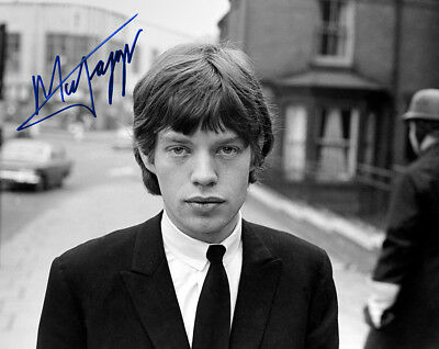 MICK JAGGER 1965 Rock n Roll Legend & Icon 8x10 Photograph AUTOGRAPH RP