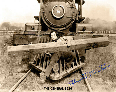 BUSTER KEATON THE GENERAL 1926 Silent Film Classic Photograph Autograph 8x10 RP