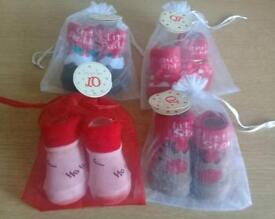 Booties for baby's Xmas designed