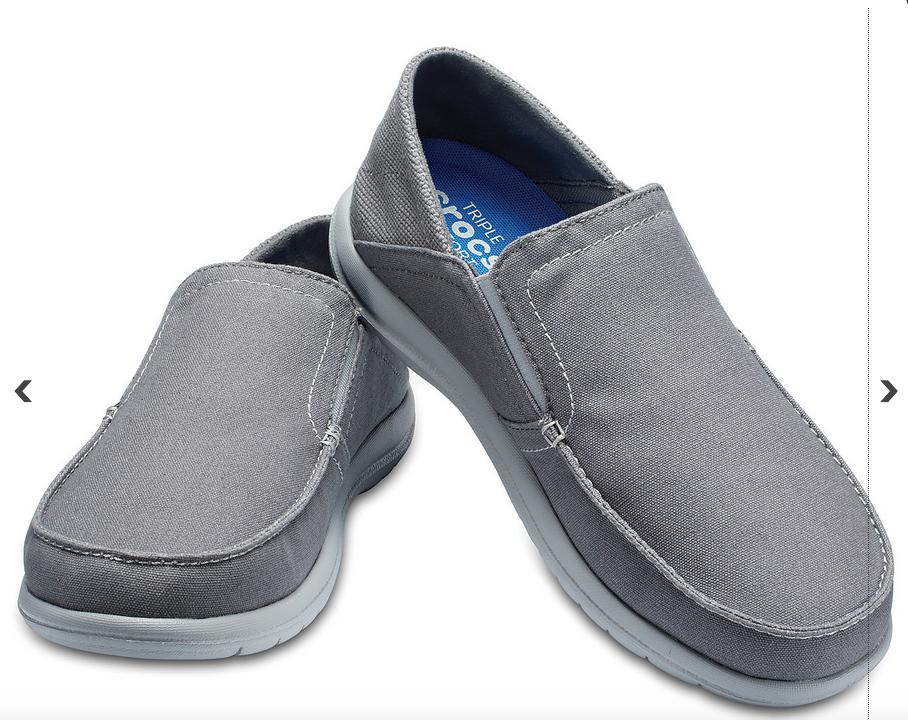 Crocs Mens Santa Cruz Convertible Slip-Ons  Shoes Light gey / slate grey