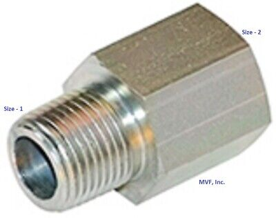 18 Male Npt X 18 Female Npt Straight Pipe Adapter Plated Steel 5405-02-02