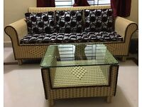 ****High Quality Brand New Artificial Hand Woven Cane Sofa Set for sale****