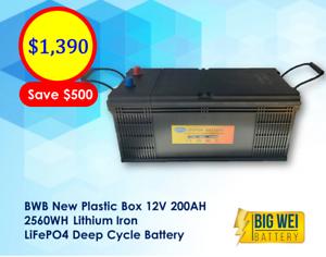 Brand New! 12V 200AH BWB LiFePO4 Deep Cycle Battery Slacks Creek Logan Area Preview