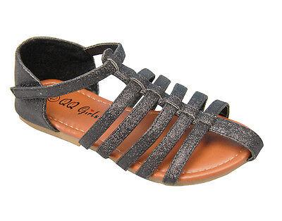 Kids Glitter Shimmery Cage Strip Sandal shoes 11-4 BUY 1 GET 1 - Kids Cage