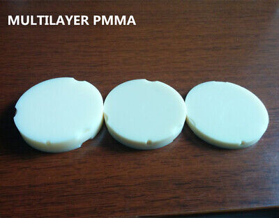 5pcs Multilayer Zirkonzahn Dental Pmma Blocks