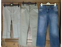 Selection of trousers 10 and 12